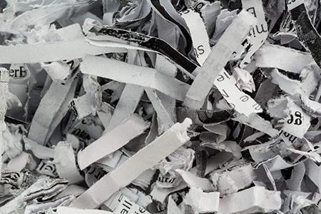 Datenvernichtung Papierschnippsel aktenvernichter
